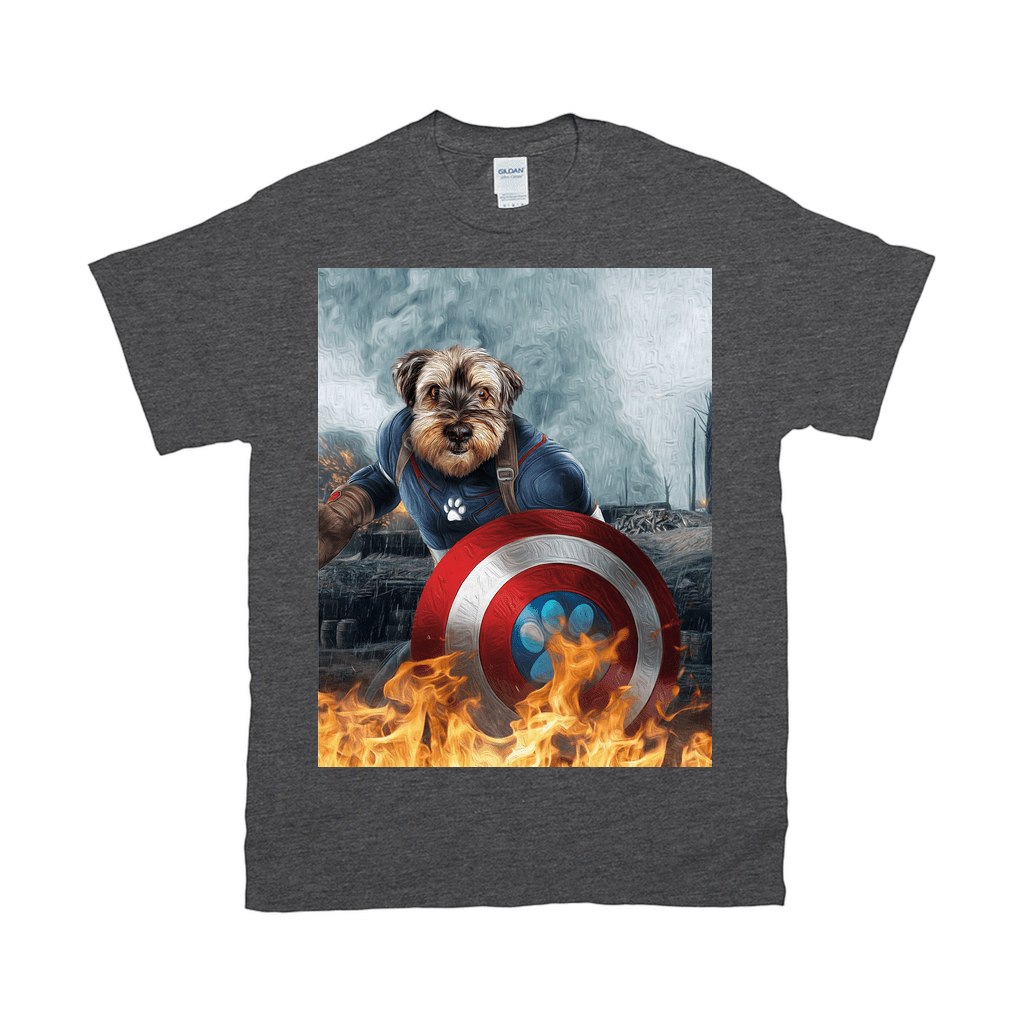 'Captain Doggmerica' Personalized Pet T-Shirt