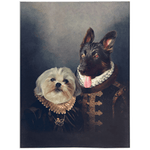 'Duke and Duchess' Personalized 2 Pet Blanket