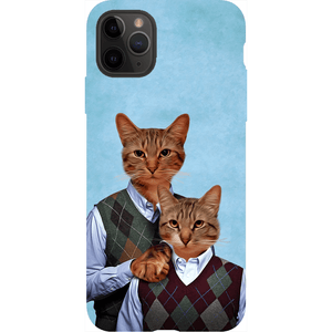 'Step Kitties' Personalized 2 Cat Phone Case