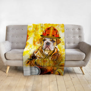 'The Firefighter' Personalized Pet Blanket