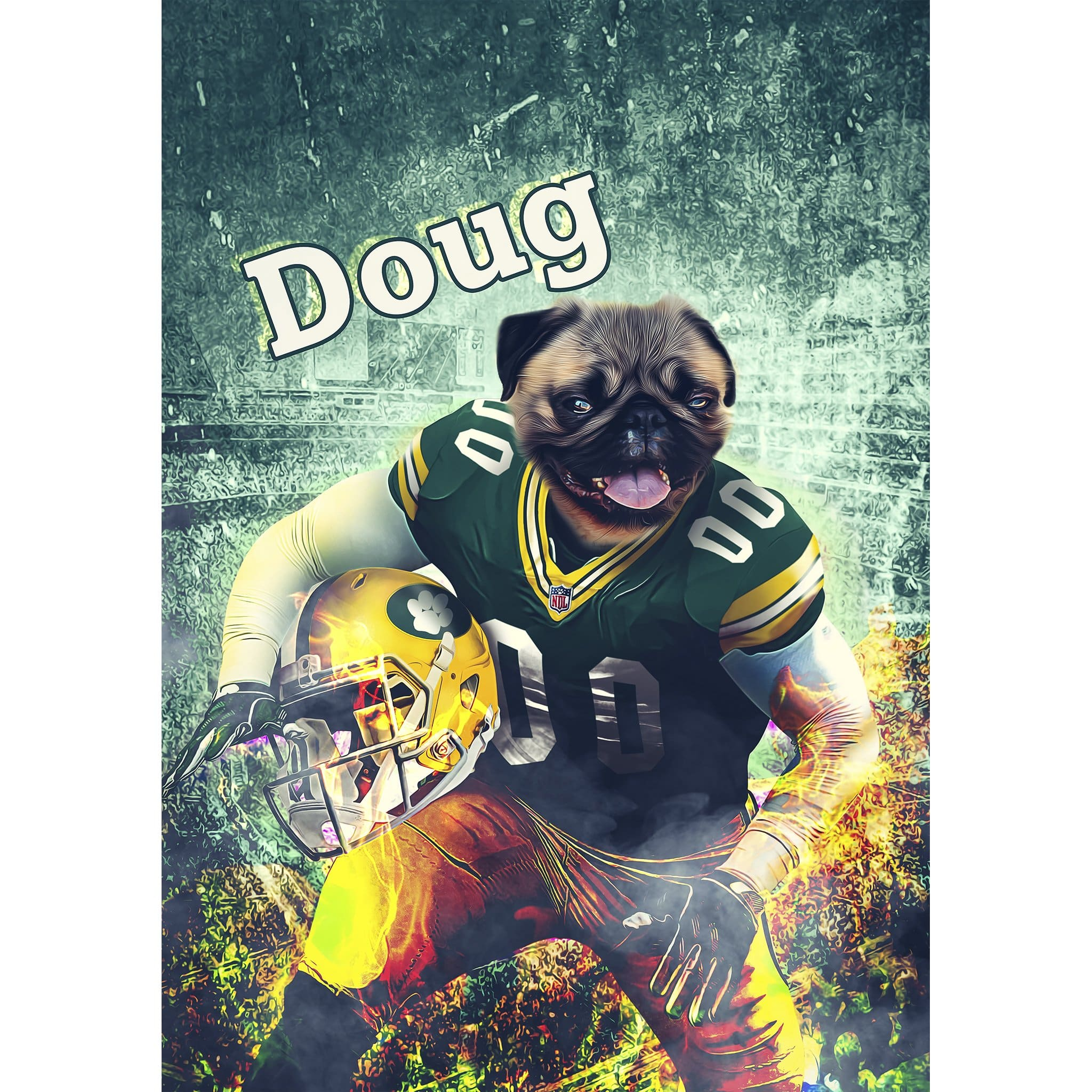 'Green Bay Doggos' Digital Portrait