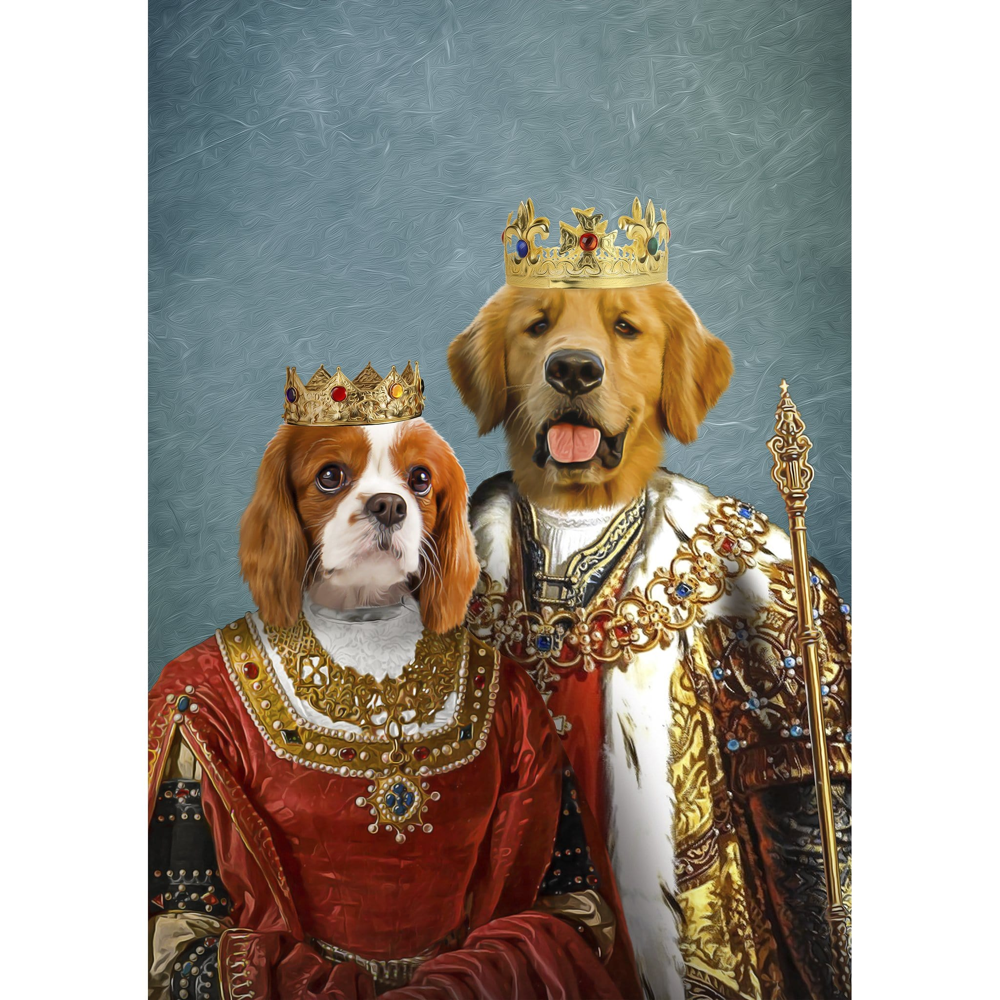 'King and Queen' 2 Pet Digital Portrait