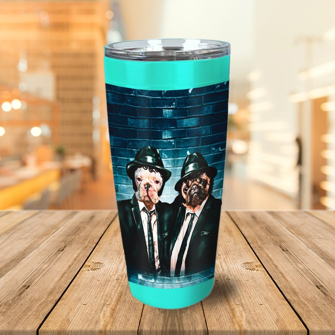 'The Blues Doggos' Personalized 2 Pet Tumbler