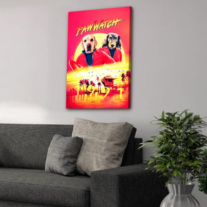 'Paw Watch 1991' Personalized 2 Pet Canvas