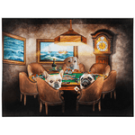 'The Poker Players' Personalized 3 Pet Blanket
