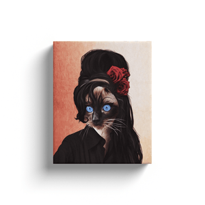 'Amy Cathouse' Personalized Pet Canvas