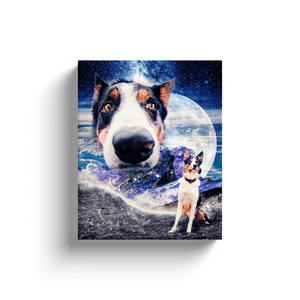 'Doggo in Space' Personalized Canvas