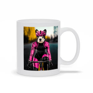 'The Female Cyclist' Personalized Pet Mug
