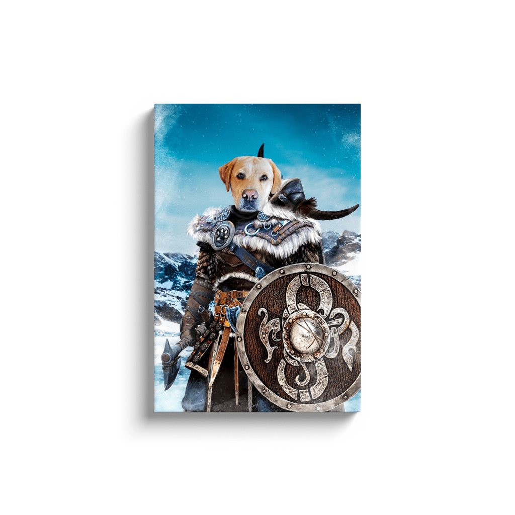 'Viking Warrior' Personalized Pet Canvas
