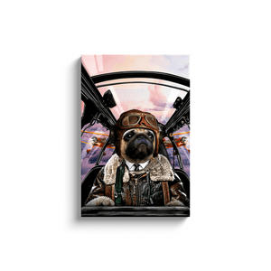 'The Pilot' Personalized Pet Canvas