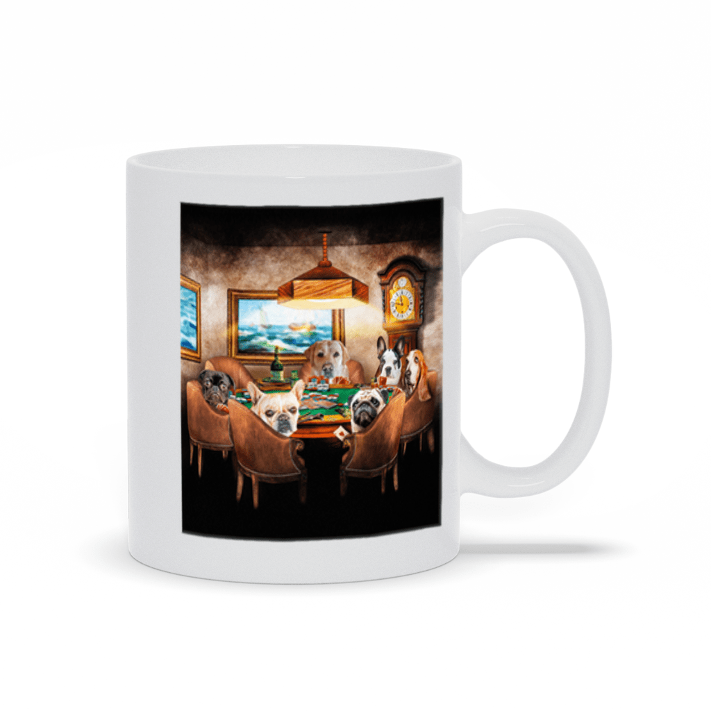 'The Poker Players' Personalized 6 Pet Mug
