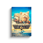 'Top Paw' 2 Pet Personalized Canvas