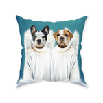 '2 Angels' Personalized 2 Pet Throw Pillow
