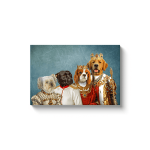 'The Royal Family' Personalized 4 Pet Canvas