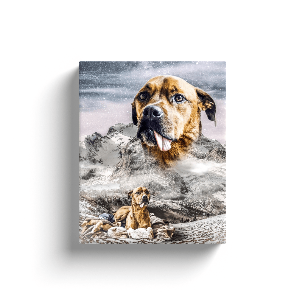 'Majestic Snowy Mountain' Personalized Canvas