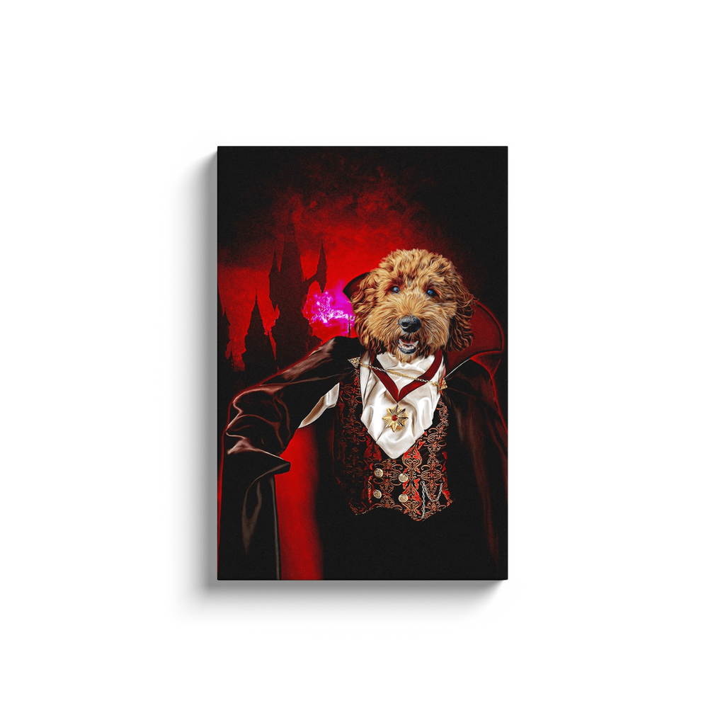 'The Vampire' Personalized Pet Canvas