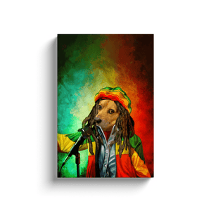 'Dog Marley' Personalized Pet Canvas