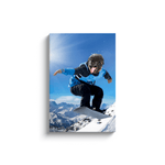 'The Snowboarder' Personalized Pet Canvas