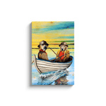 'The Fishermen' Personalized 2 Pet Canvas