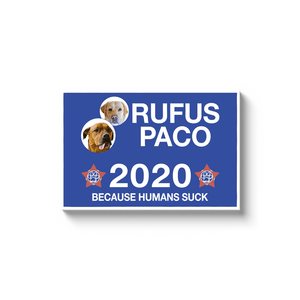 'Your Dog 2020' Personalized 2 Pet Canvas