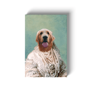 The Pearled Dame: Personalized Pet Canvas
