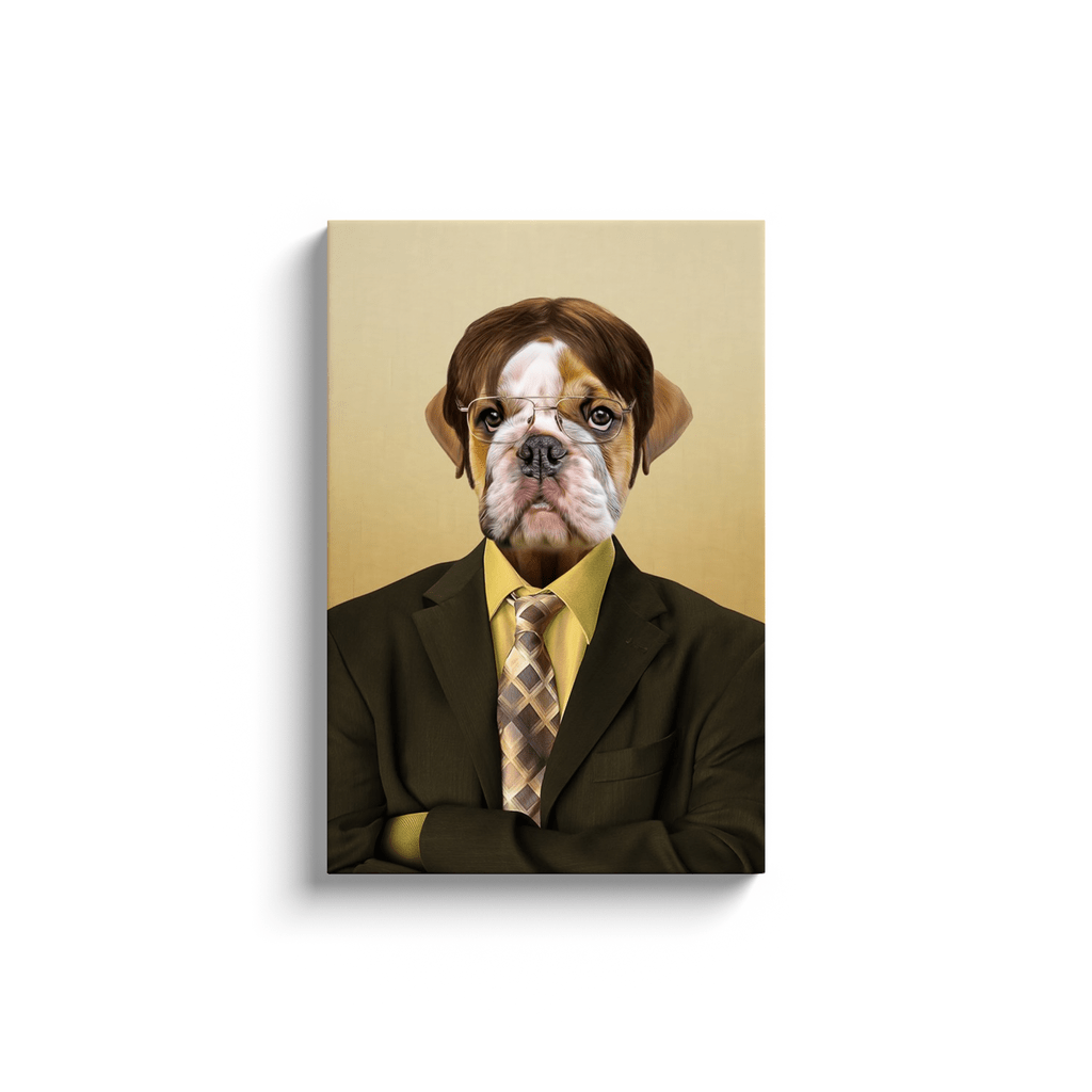'Dwight Woofer: The Pawfice' Personalized Pet Canvas