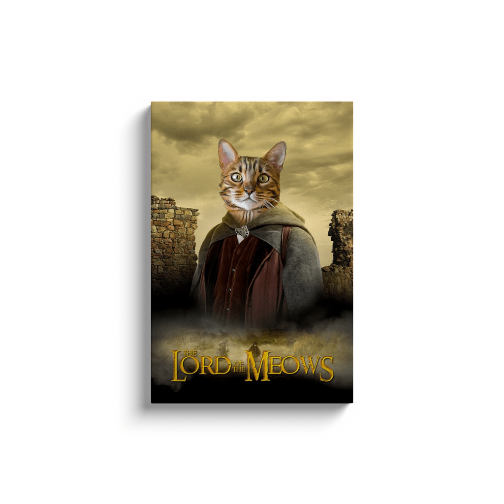 'Lord Of The Meows' Personalized Pet Canvas