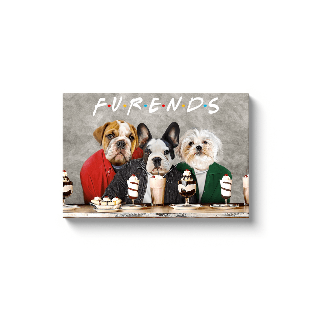 'Furends' Personalized 3 Pet Canvas