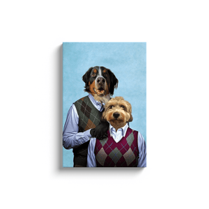 Step-Doggo & Doggette Personalized 2 Pet Canvas