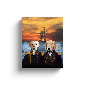 'The Explorers' Personalized 2 Pet Canvas