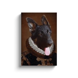 The Duke: Personalized Dog Canvas