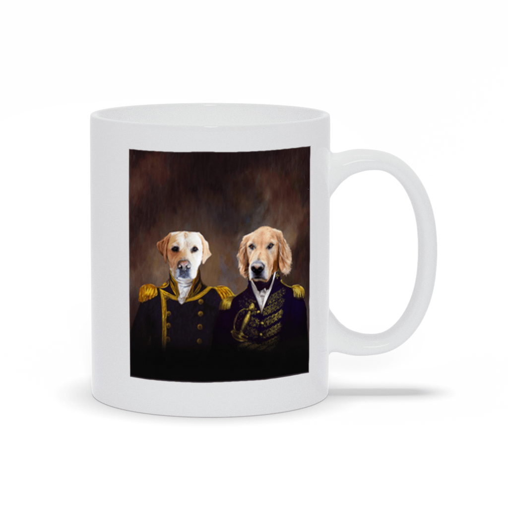 'The Admiral and the Captain' Custom 2 Pet Mug