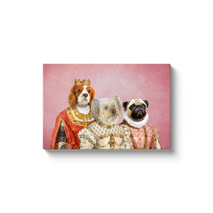 'The Royal Ladies' Personalized 3 Pet Canvas