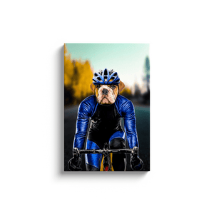 'The Male Cyclist' Personalized Pet Canvas