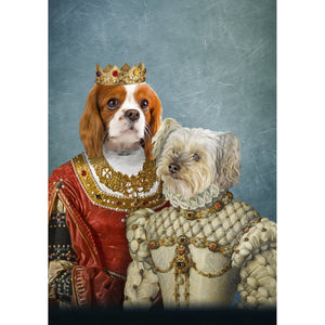 'Queen and Princess' 2 Pet Digital Portrait