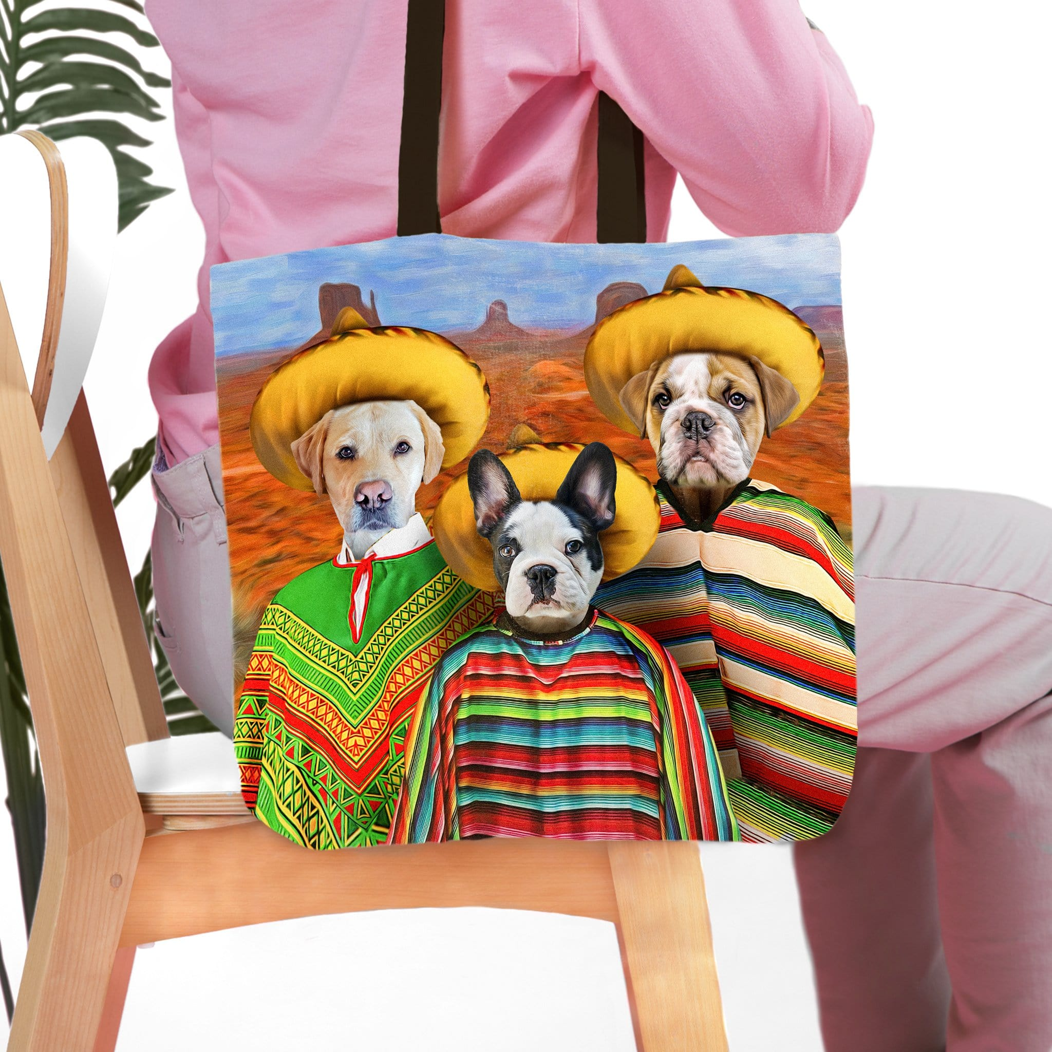 '3 Amigos' Personalized 3 Pet Tote Bag