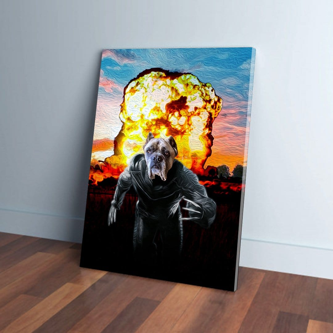 'Wolverine Dog' Personalized Pet Canvas