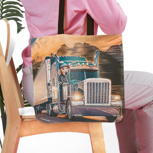 'The Trucker' Personalized Tote Bag