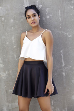 THE BLACK NEOPRENE SKIRT
