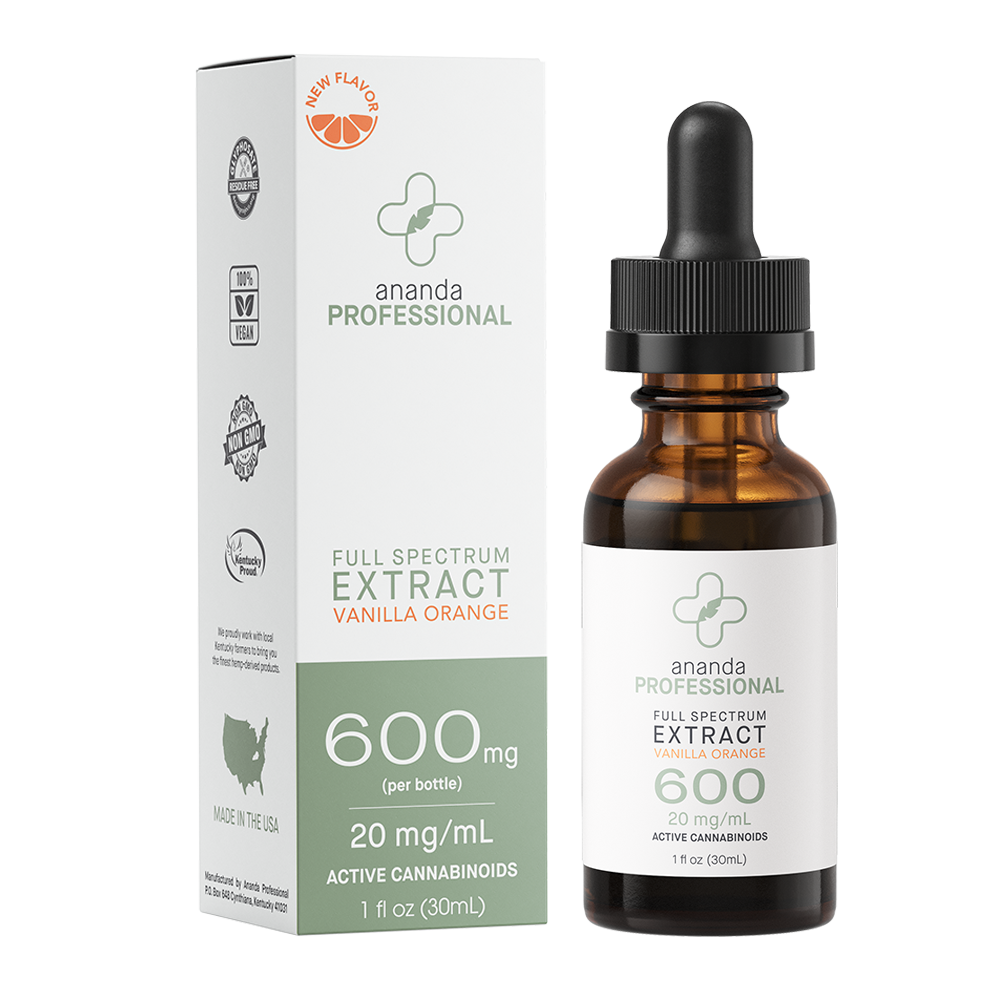 600mg Full Spectrum Tincture - Vanilla Orange