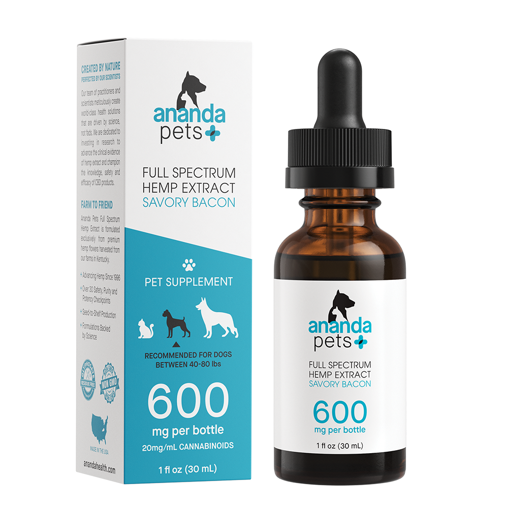 Ananda Pets 600mg Tincture - Bacon