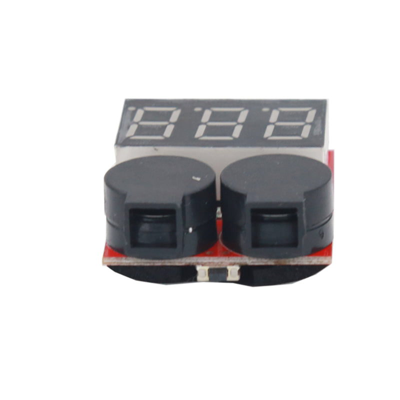 1-8s Lipo Battery Tester Monitor Low Voltage Buzzer Alarm Voltage Checker with LED Indicator for Lipo LiFe LiMn Li-ion Battery
