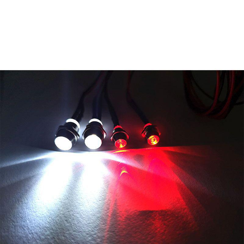 4 LED Lights Red White Color for 1:8 And 1:10 RC Car