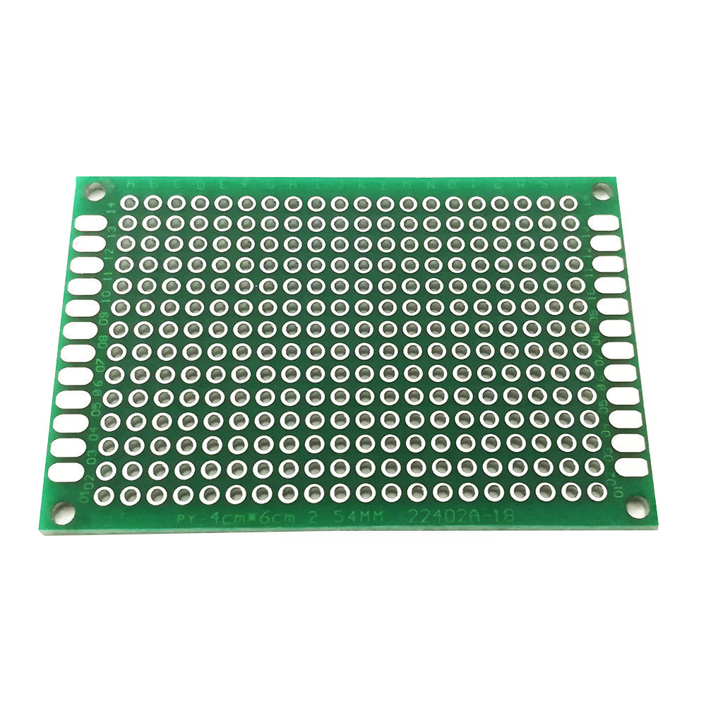 4*6cm Double-sided Universal Board 2.54mm Spacing Universal Board Green Oil Tin Plating