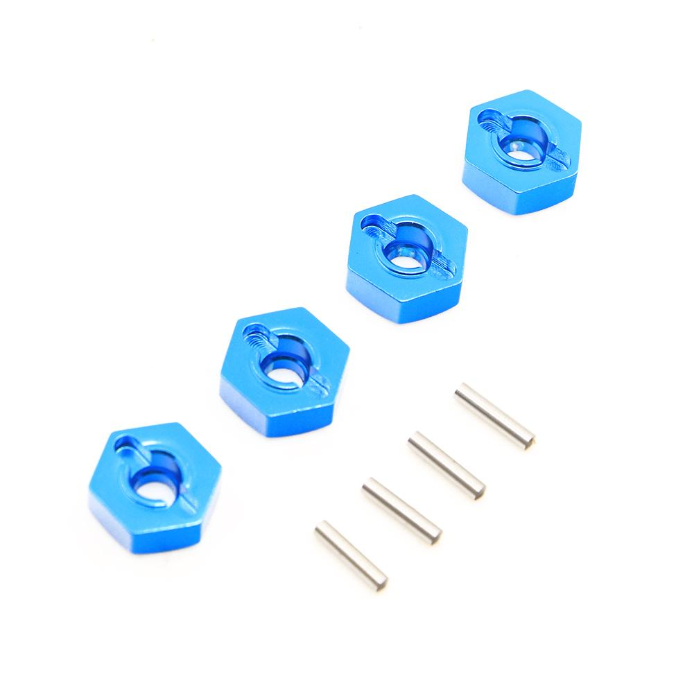 4 pcs 1/10 Remote Control Car 12 mm Hexagonal Joint Metal Wheel Seat Adapter Toy Car Parts
