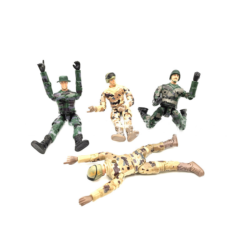 4pcs Simulate Doll Gift Toys Action Figure Decoration Model Military Soldier RC Car Parts