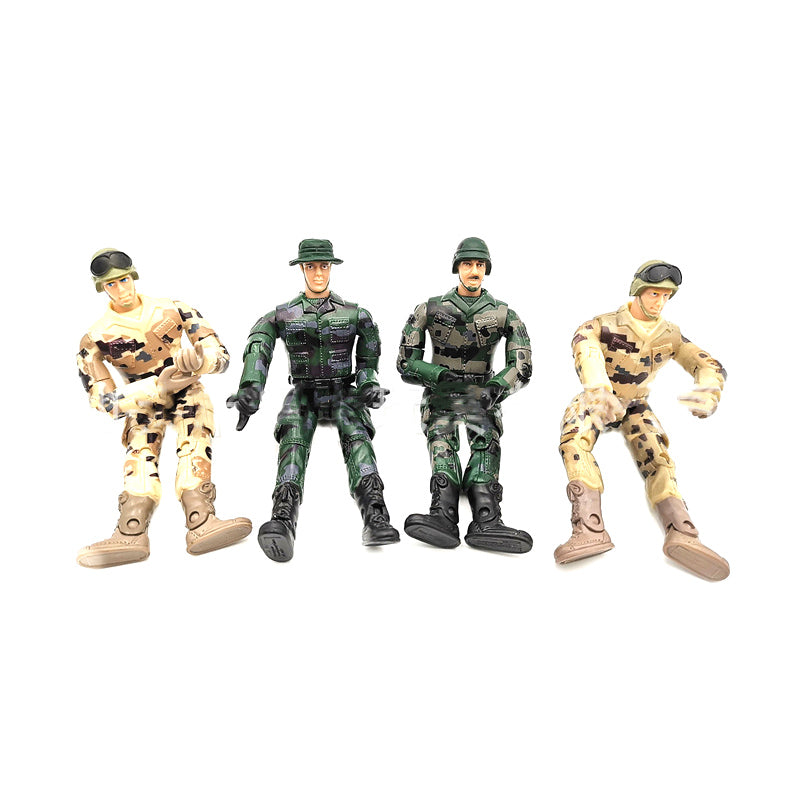 4 pcs Simulate Doll Gift Toys Action Figure Decoration Model Military Soldier RC Car Parts