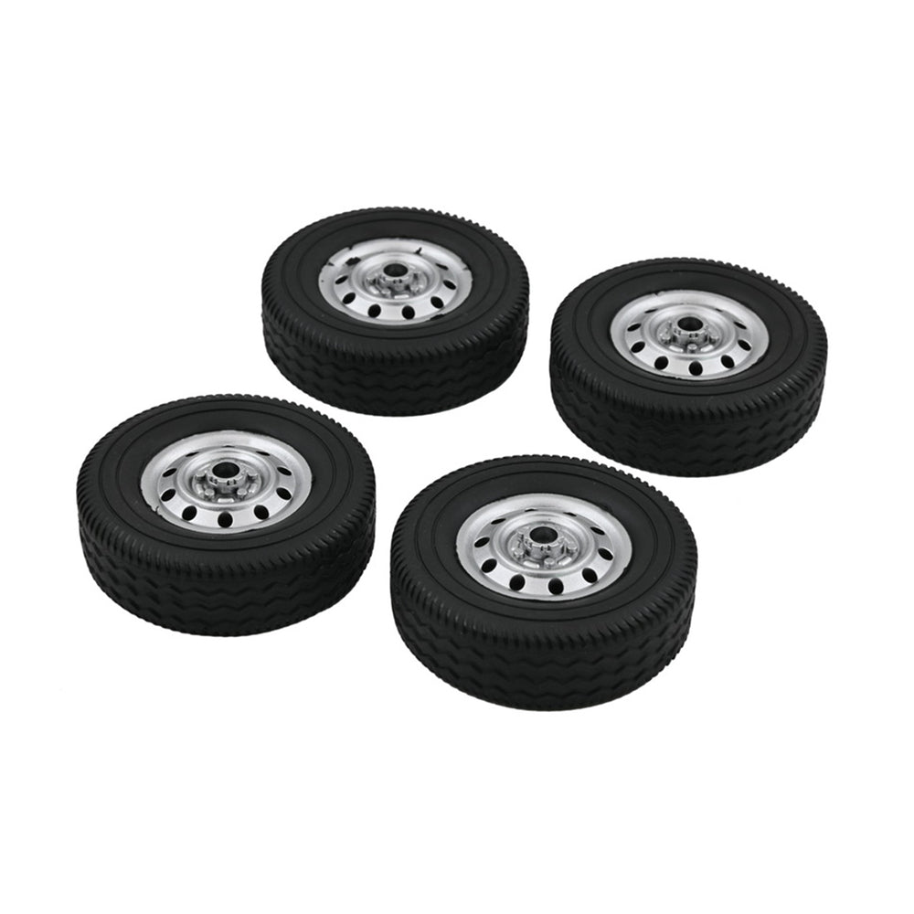 4 pcs Upgrade Wheel Rim Wheel Hubs Rubber Tires for WPL D12 RC Car Spare Parts Accessories