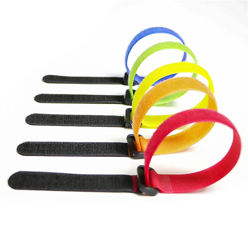 Magic Tape Sticks Cable Ties Model Straps Wire With Battery Stick Buckle Belt Bundle Tie Hook Loop Fastener Tape Velcro