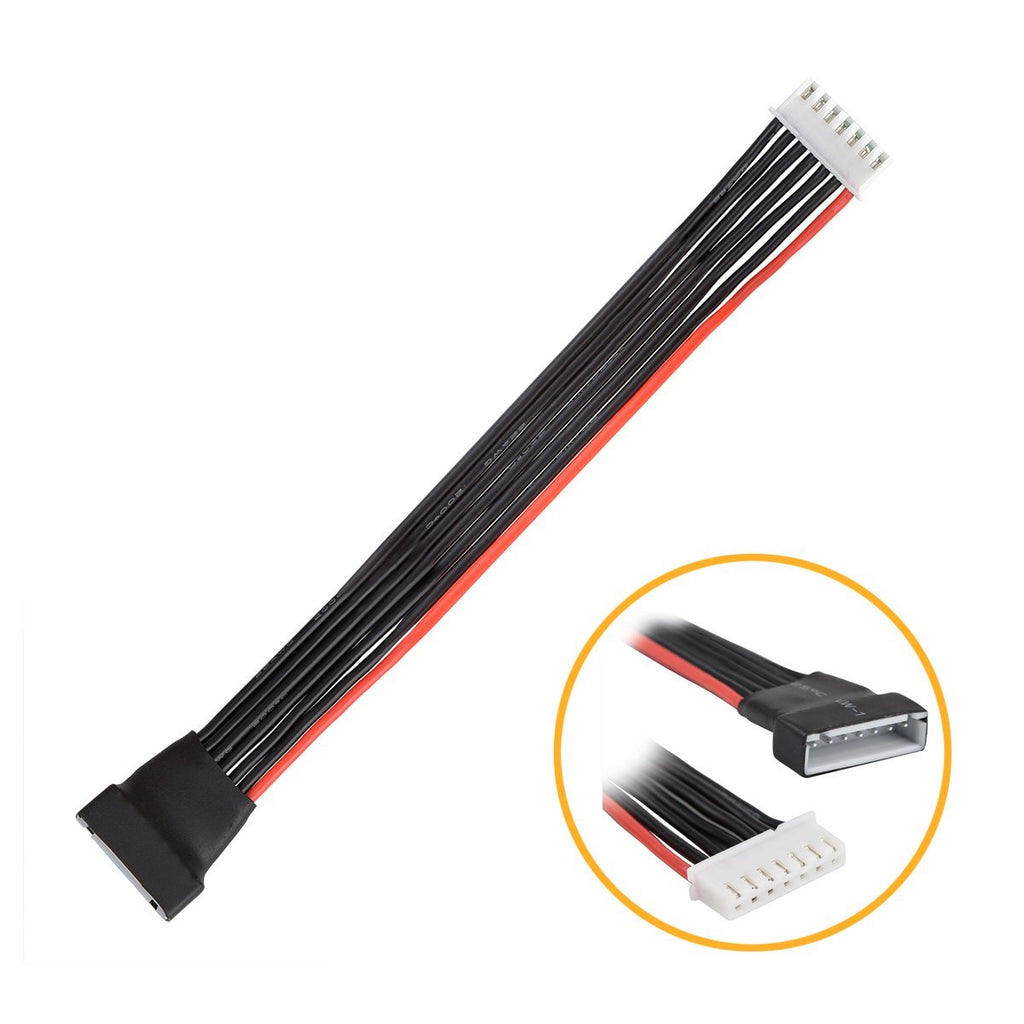 Lipo Battery 6S 6-Cell Balance Charging Wire Extension Lead 20 cm 7.87'' JST-XH Plug - for Venom iMax Tenergy Traxxas EV-Peak Lipo Chargers